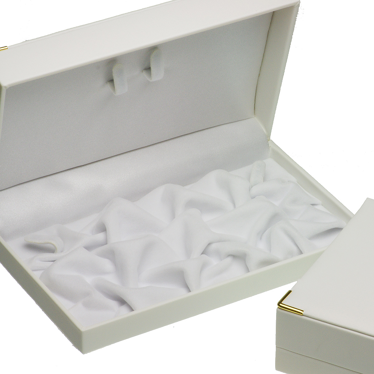 ジュエリーケース ネックレス用 ホワイト フォーマル カジュアルの写真