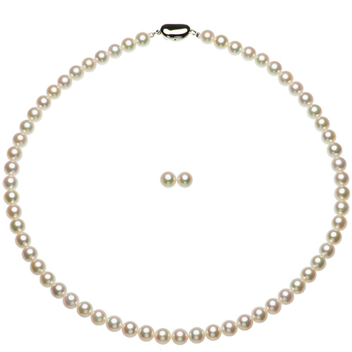 アコヤ 花珠 真珠 フォーマル セット 約6.5-7.0mmの写真