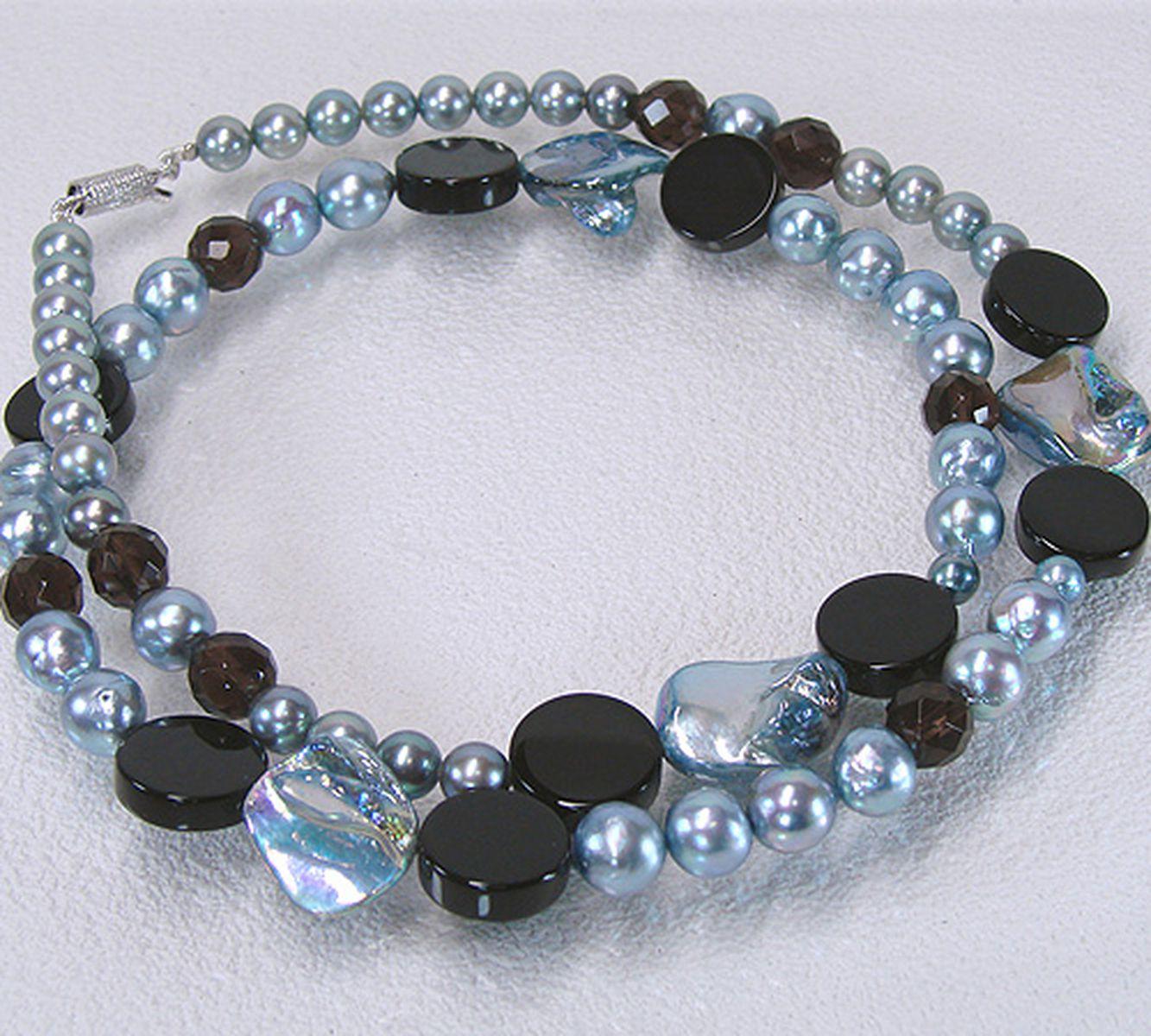 アコヤ真珠オリジナルデザインネックレス 約6.5-8.0mmの写真