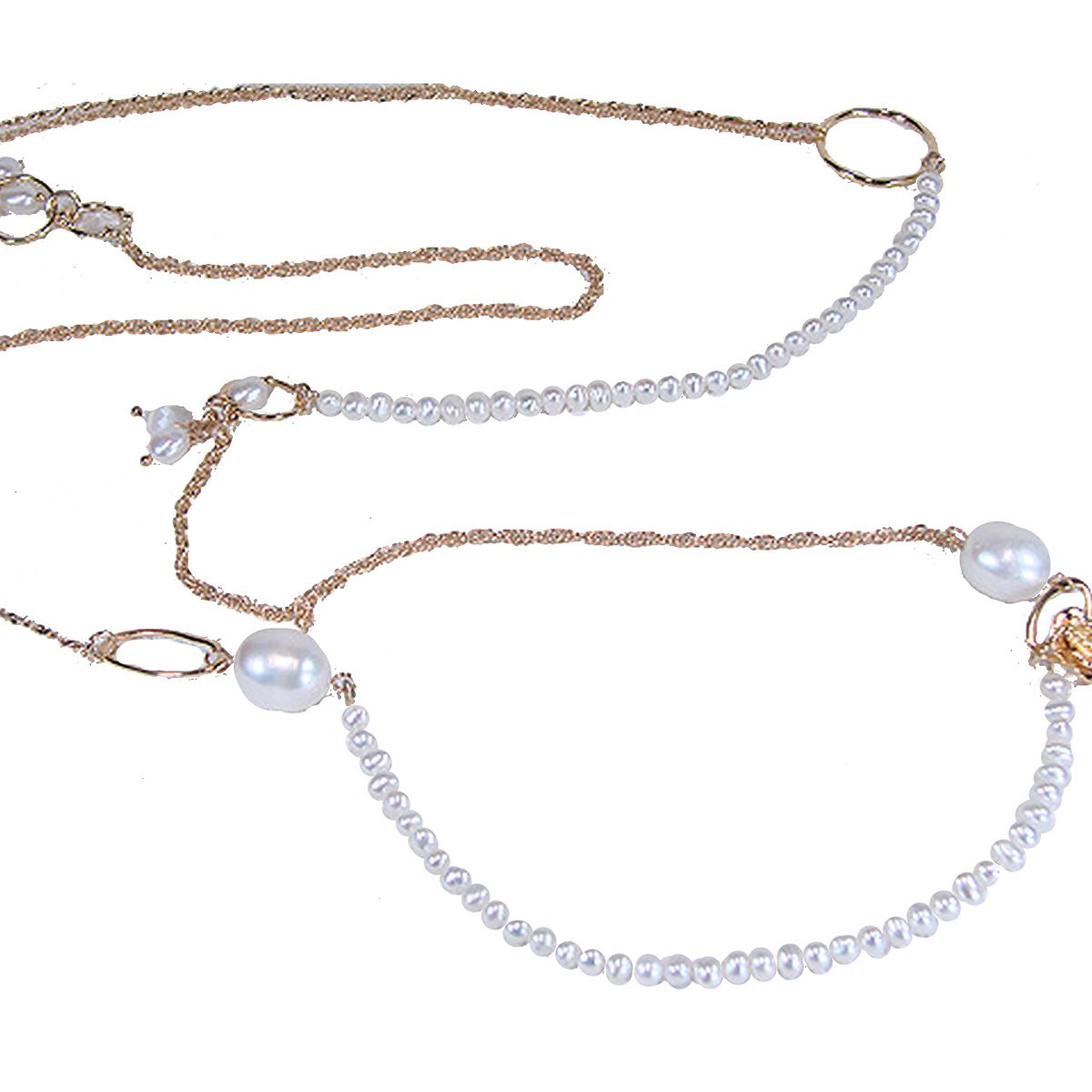 淡水真珠ロングネックレス 約3.5mm・約9.0×10.0mmの写真