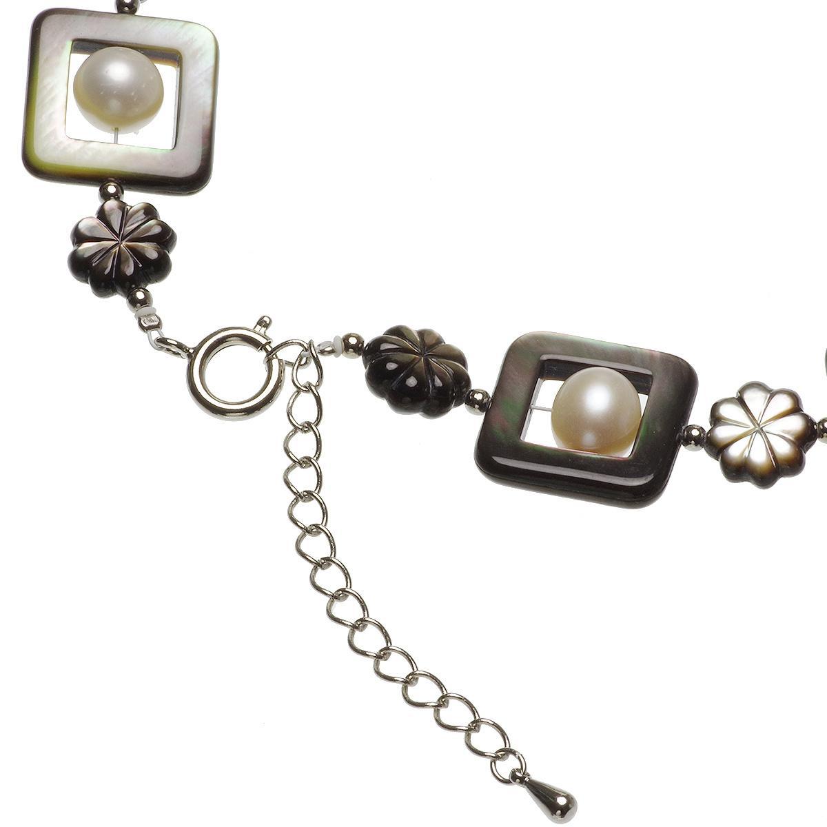 黒蝶シェル 淡水真珠 オリジナル ネックレス 8.0-9.0mmの写真