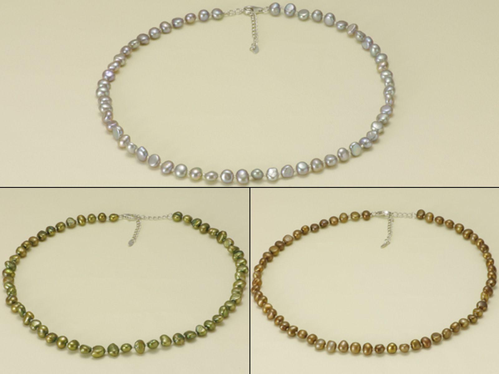 淡水真珠 オリジナル デザイン ネックレス 約6.5-7.5mmの写真