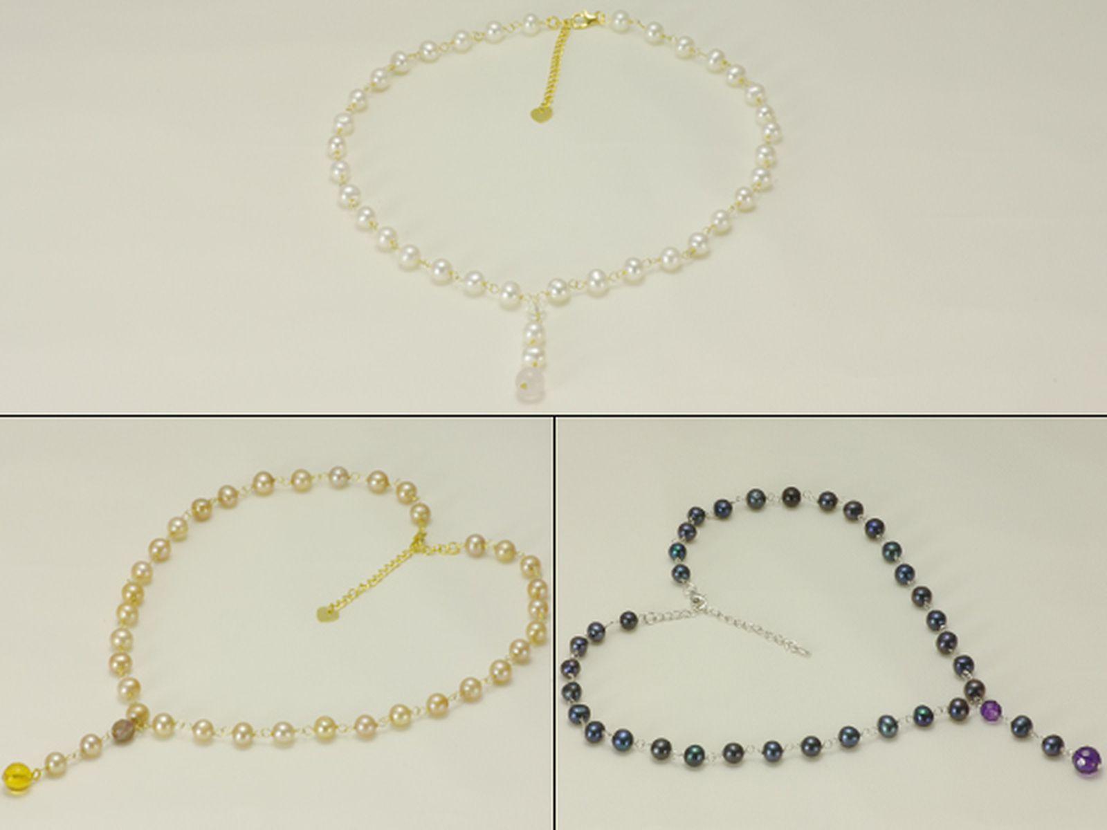 淡水真珠オリジナルデザインネックレス 約6.0-7.0mmの写真