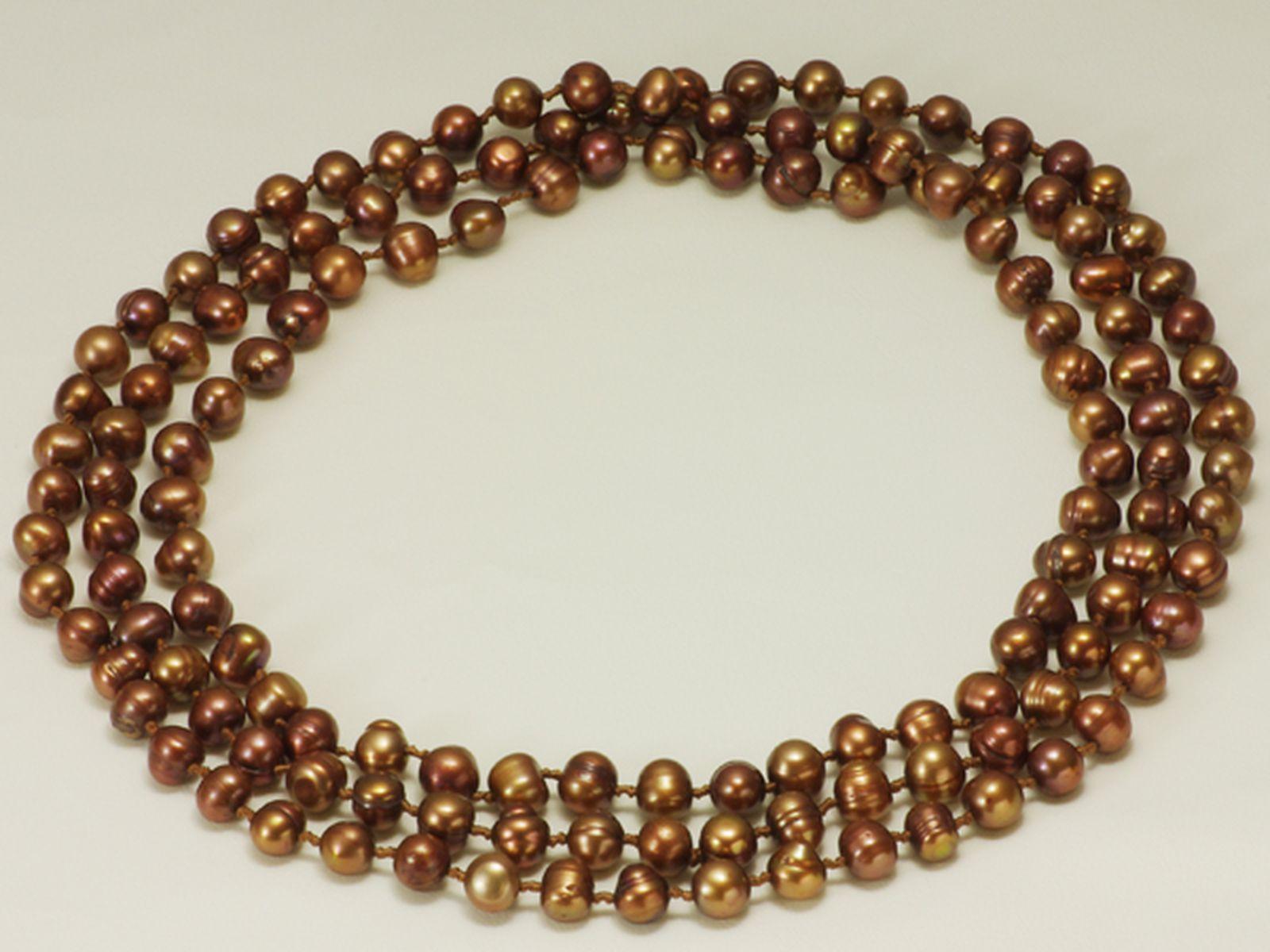淡水真珠ロングネックレス 約8.0-8.5mmの写真