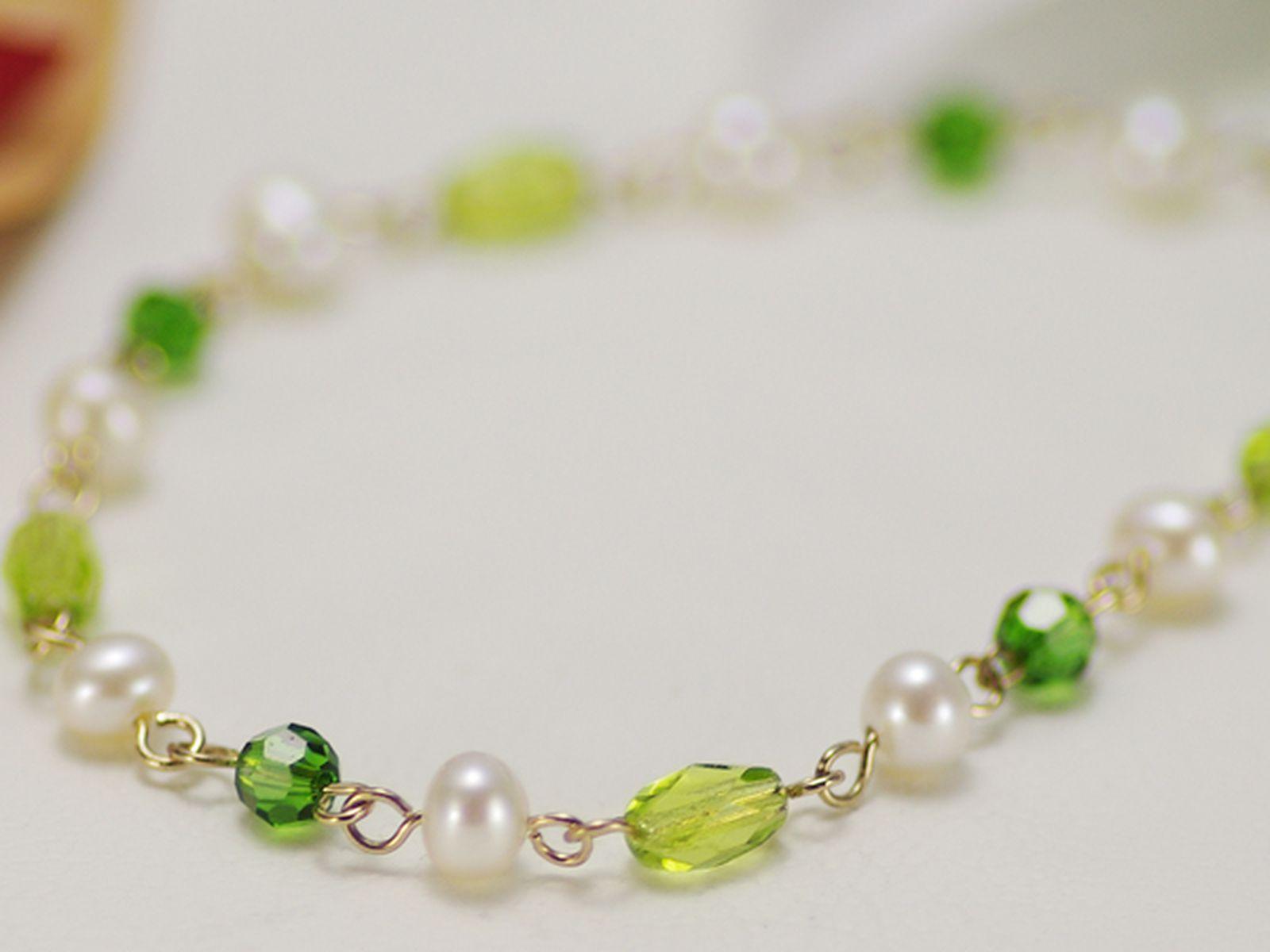 淡水真珠オリジナルデザインネックレス 約4.5-5.0mmの写真