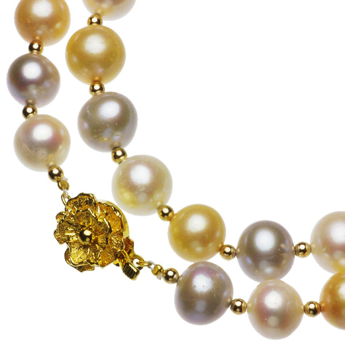 淡水真珠オリジナルデザインネックレス 約10.5-11..5mmの写真