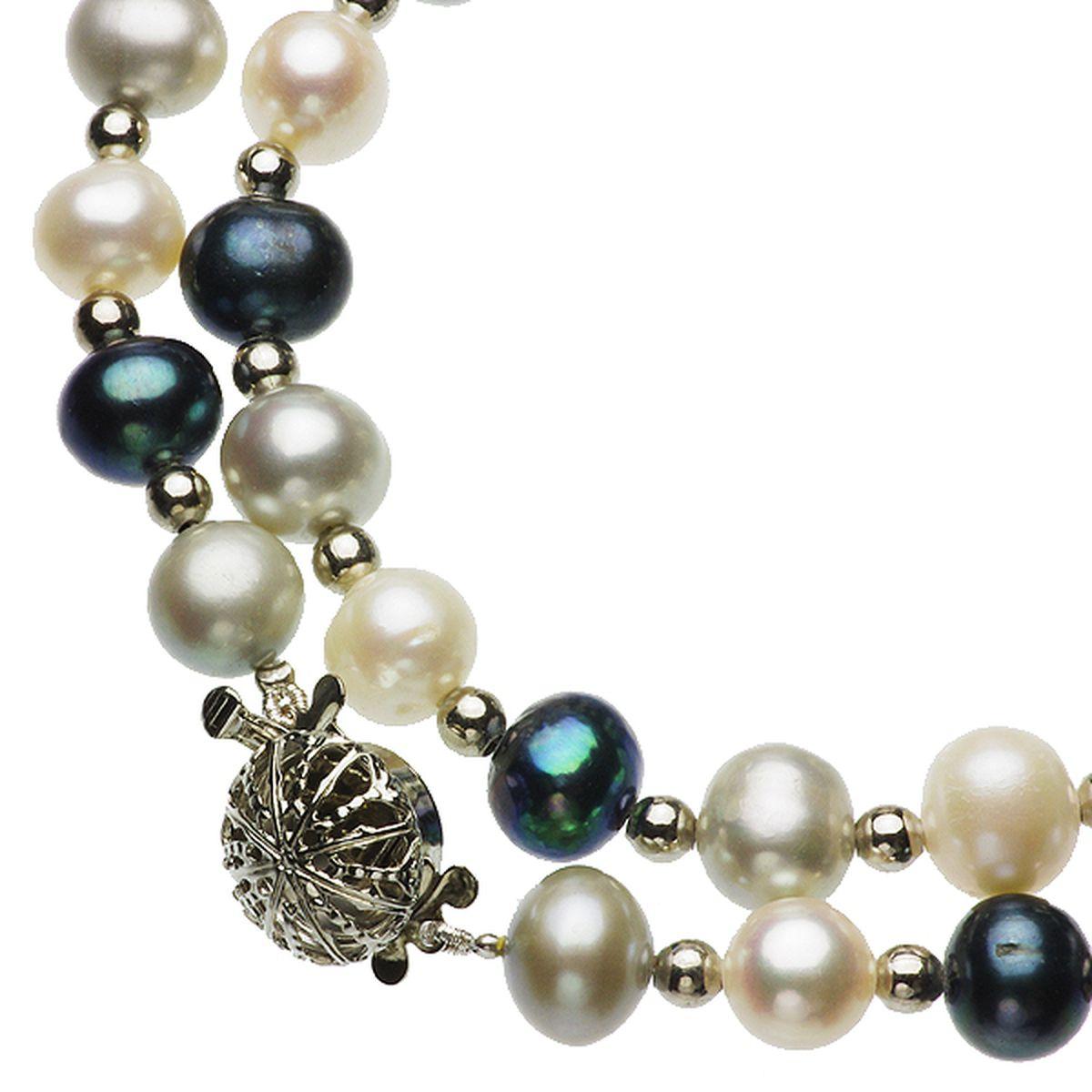 淡水真珠オリジナルデザインネックレス 約8.0-9.0mmの写真