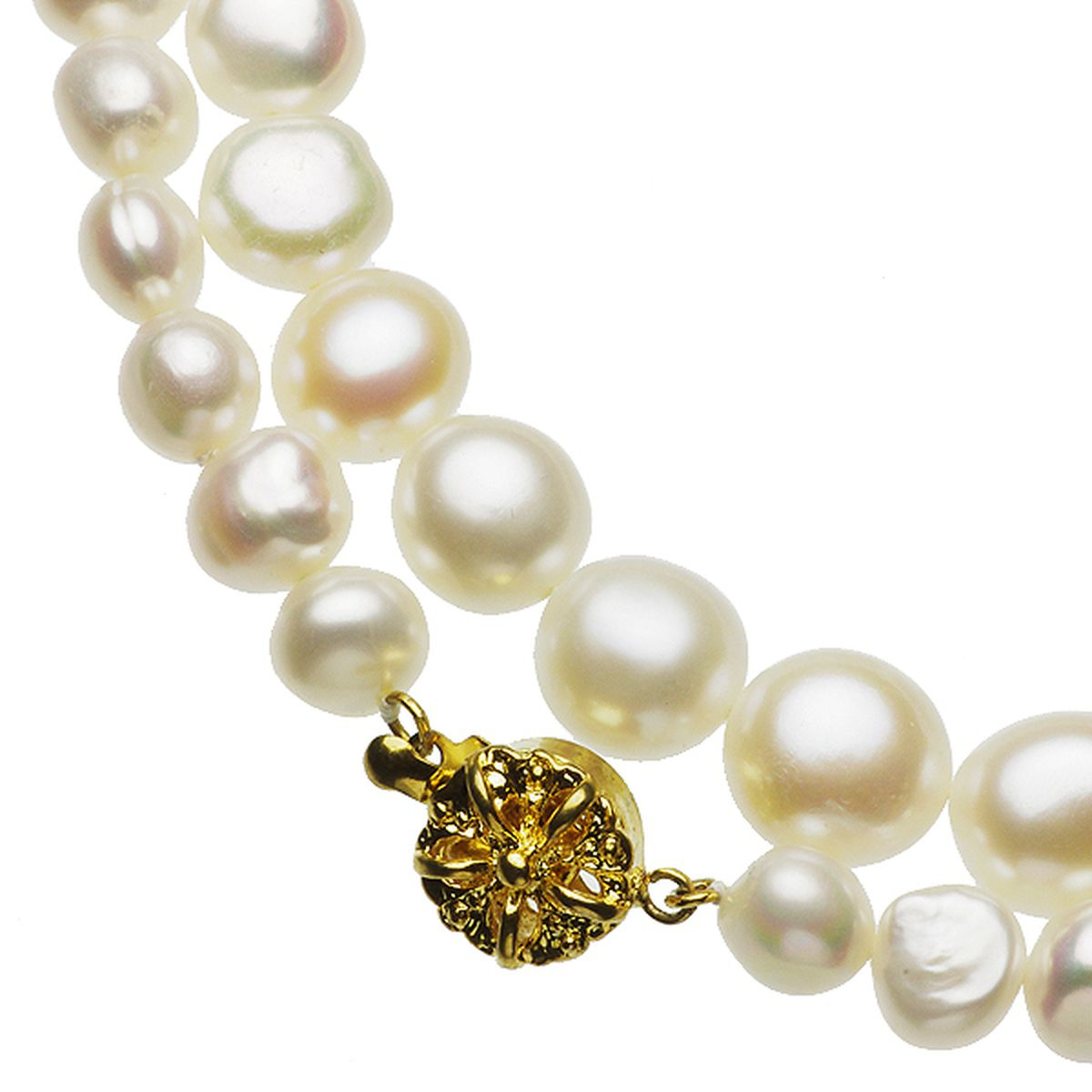 淡水真珠オリジナルデザインネックレス 約6.5-8.5mmの写真