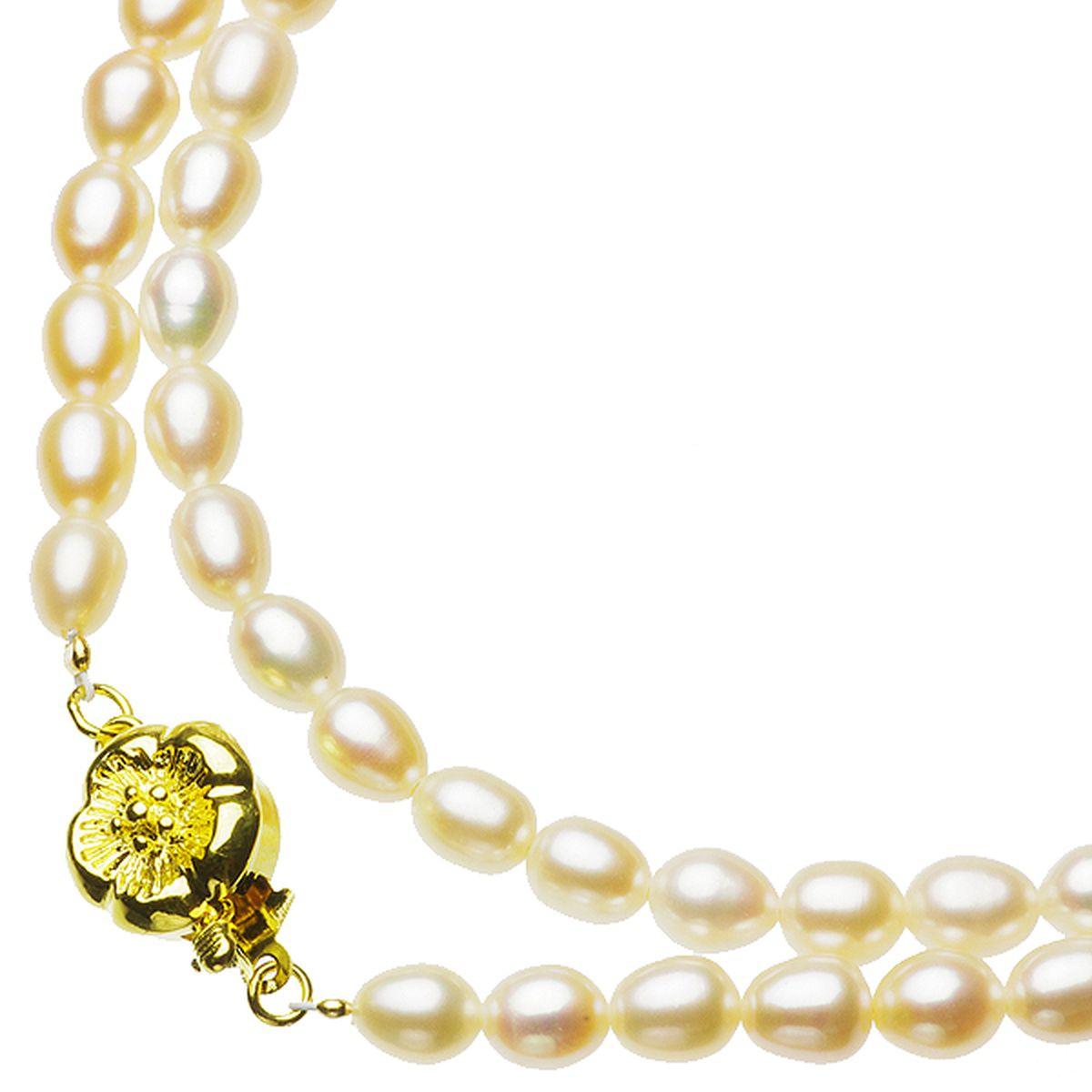 淡水真珠オリジナルデザインネックレス 約5.0-5.5mmの写真