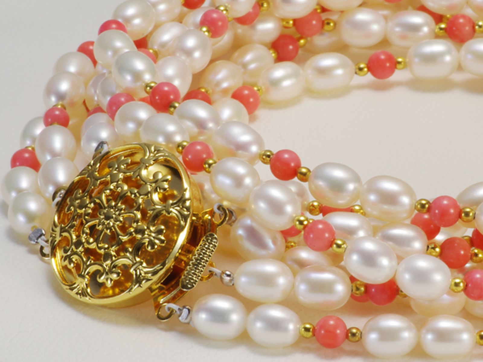 淡水真珠オリジナルデザインネックレス 約5.5mmの写真