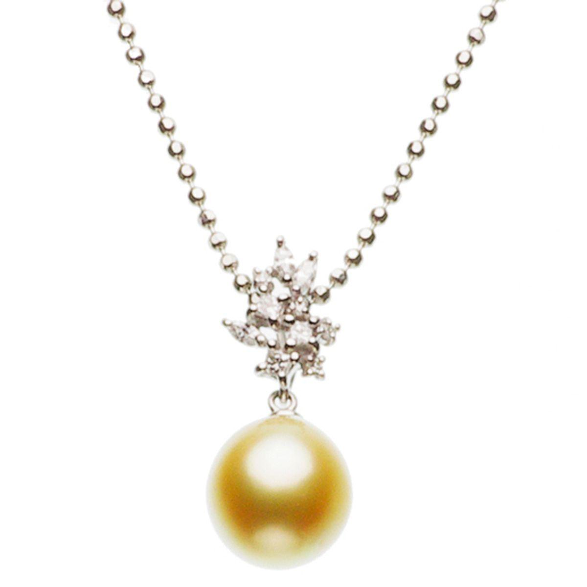 南洋白蝶真珠ペンダント 約10.76mmの写真