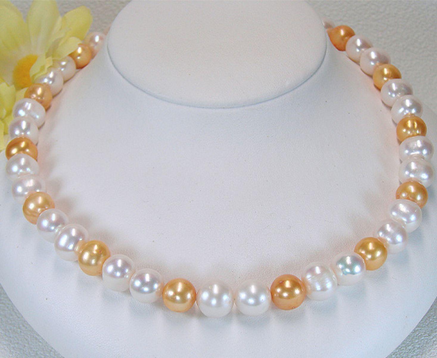 淡水真珠オリジナルデザインネックレス 約9.0-11.0mmの写真