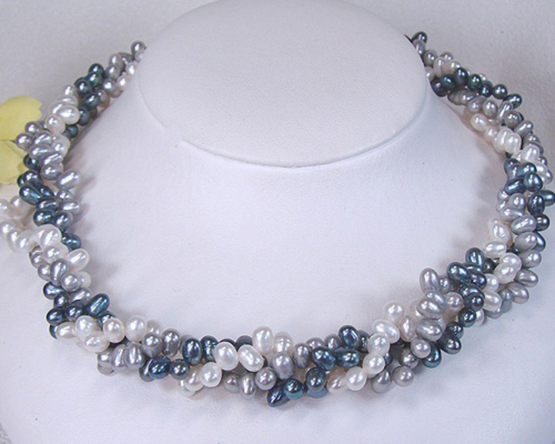 淡水真珠オリジナルデザインネックレス 約4.5-5.5mmの写真