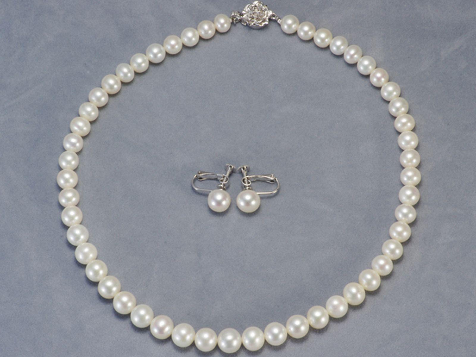 淡水真珠フォーマルセット 約7.5-9.5mmの写真