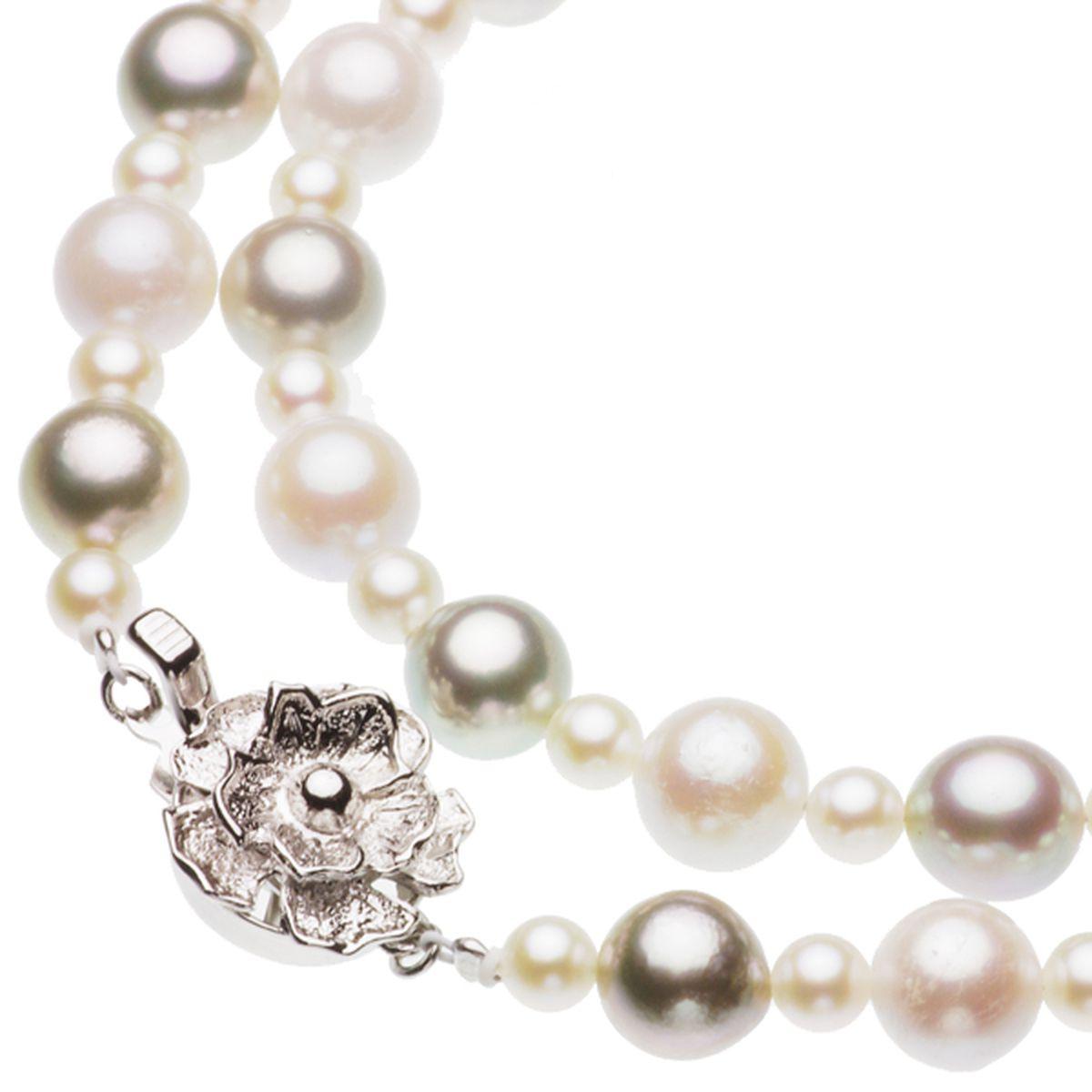 アコヤ真珠オリジナルデザインネックレス 約4.0-7.5mmの写真