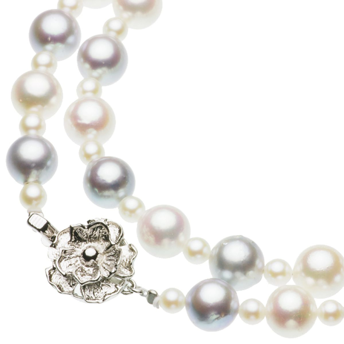 アコヤ真珠オリジナルデザインネックレス 約4.0-8.5mmの写真