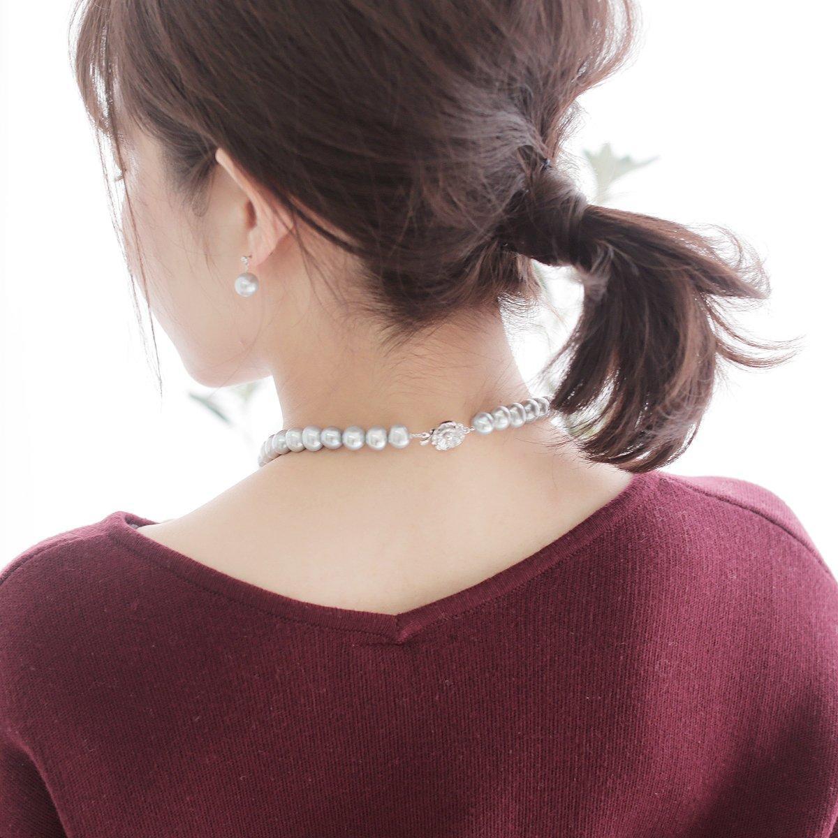 高級 淡水真珠 大粒 パール ネックレスセット 約9.0mm-10.5mmの写真