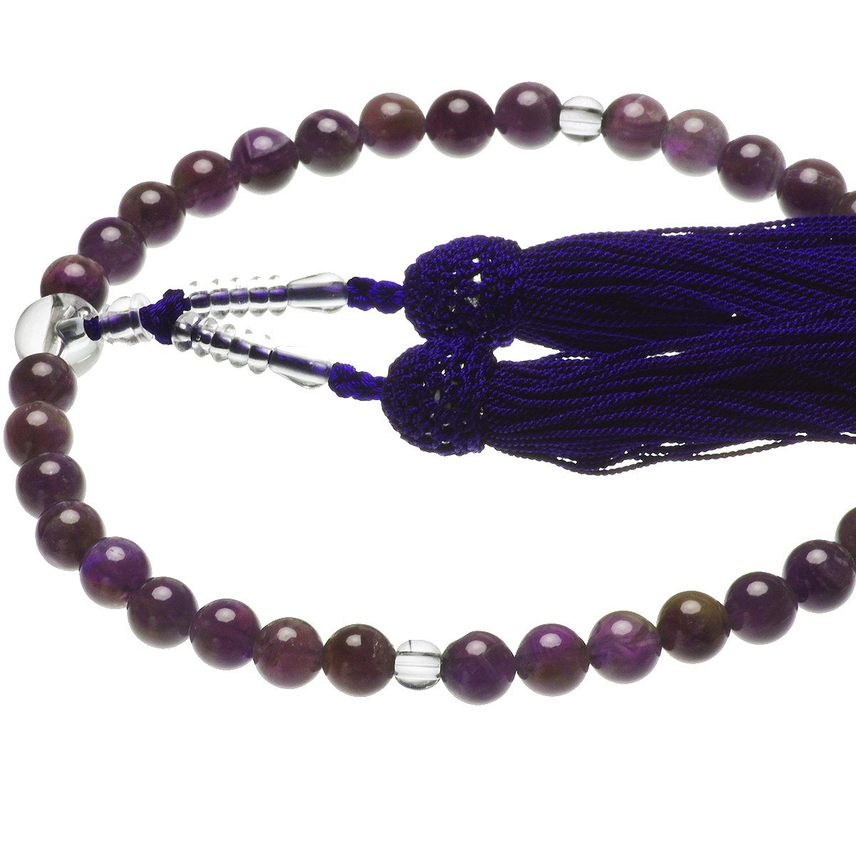 天然石 アメシスト 紫水晶 略式 念珠 数珠 約7.5mm すべての宗派の写真