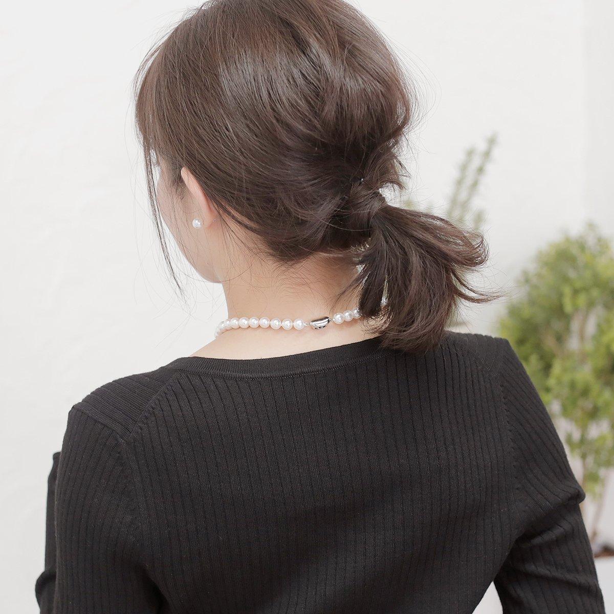 オーロラ花珠 真珠 フォーマル セット 約8.0-8.5mmの写真