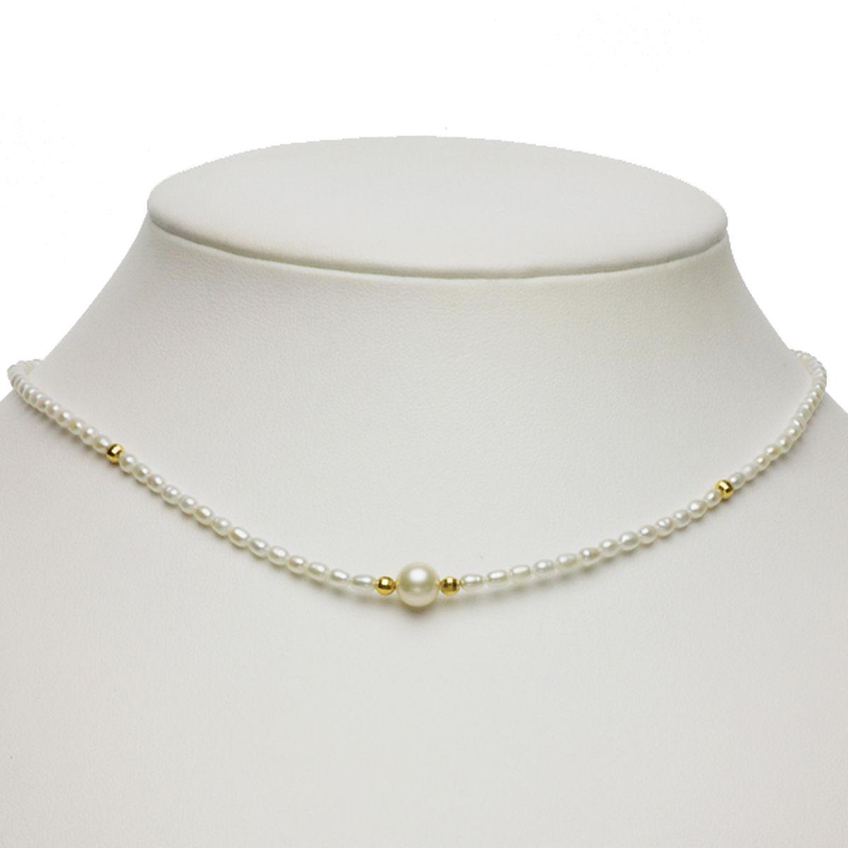 淡水真珠オリジナルデザインネックレス 約2.5-3.0mmの写真
