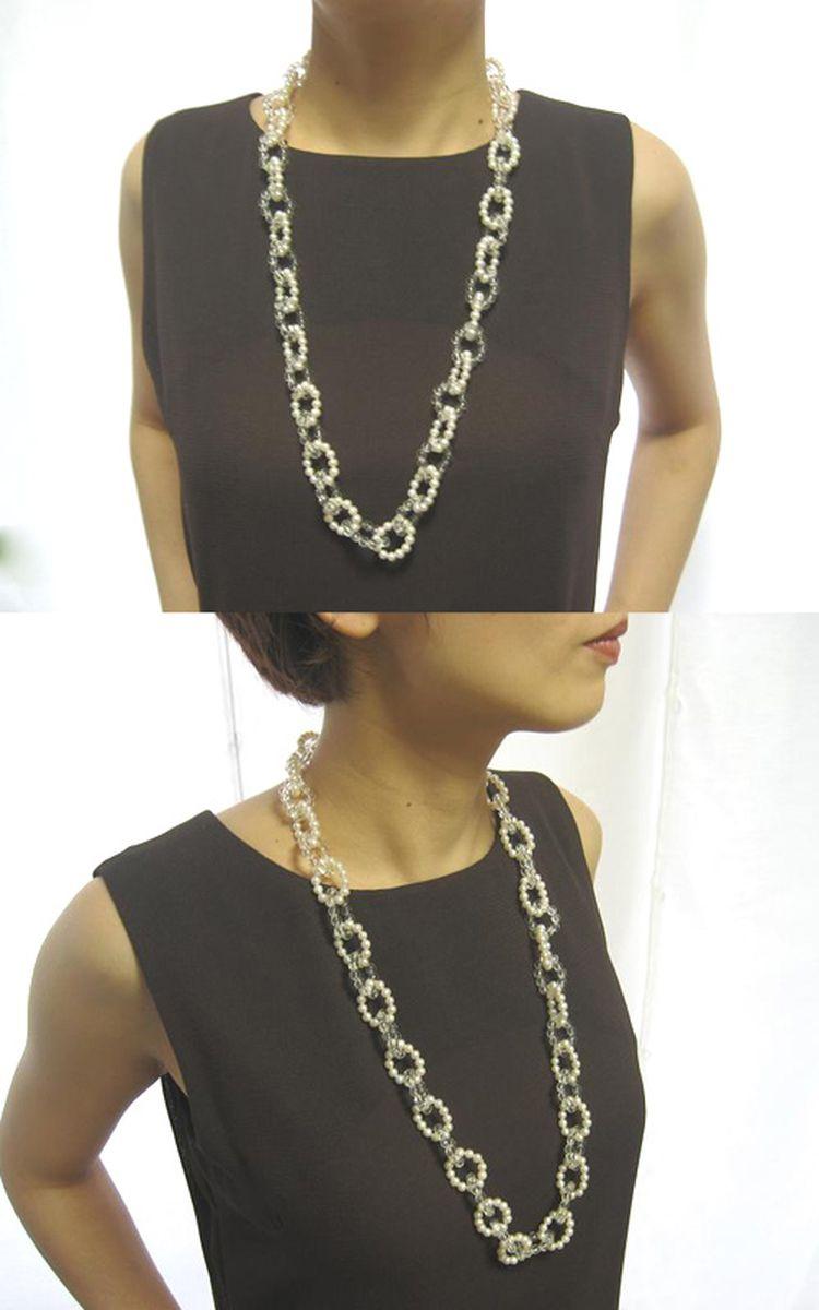 淡水真珠ロングネックレス 約5.0mmの写真