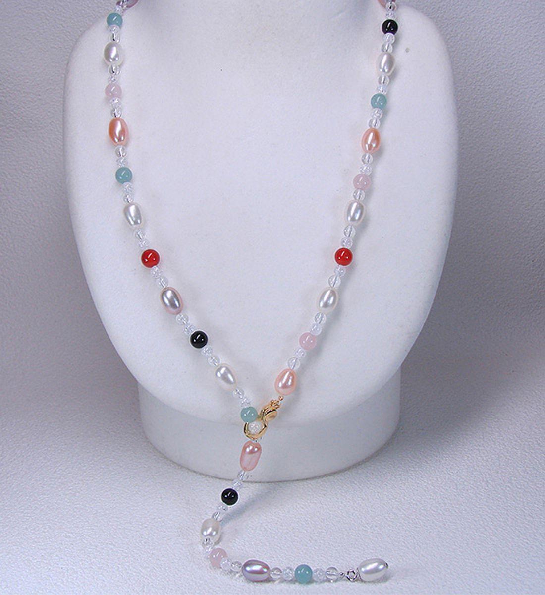 淡水真珠オリジナルデザインネックレス 約7.0-8.0mmの写真
