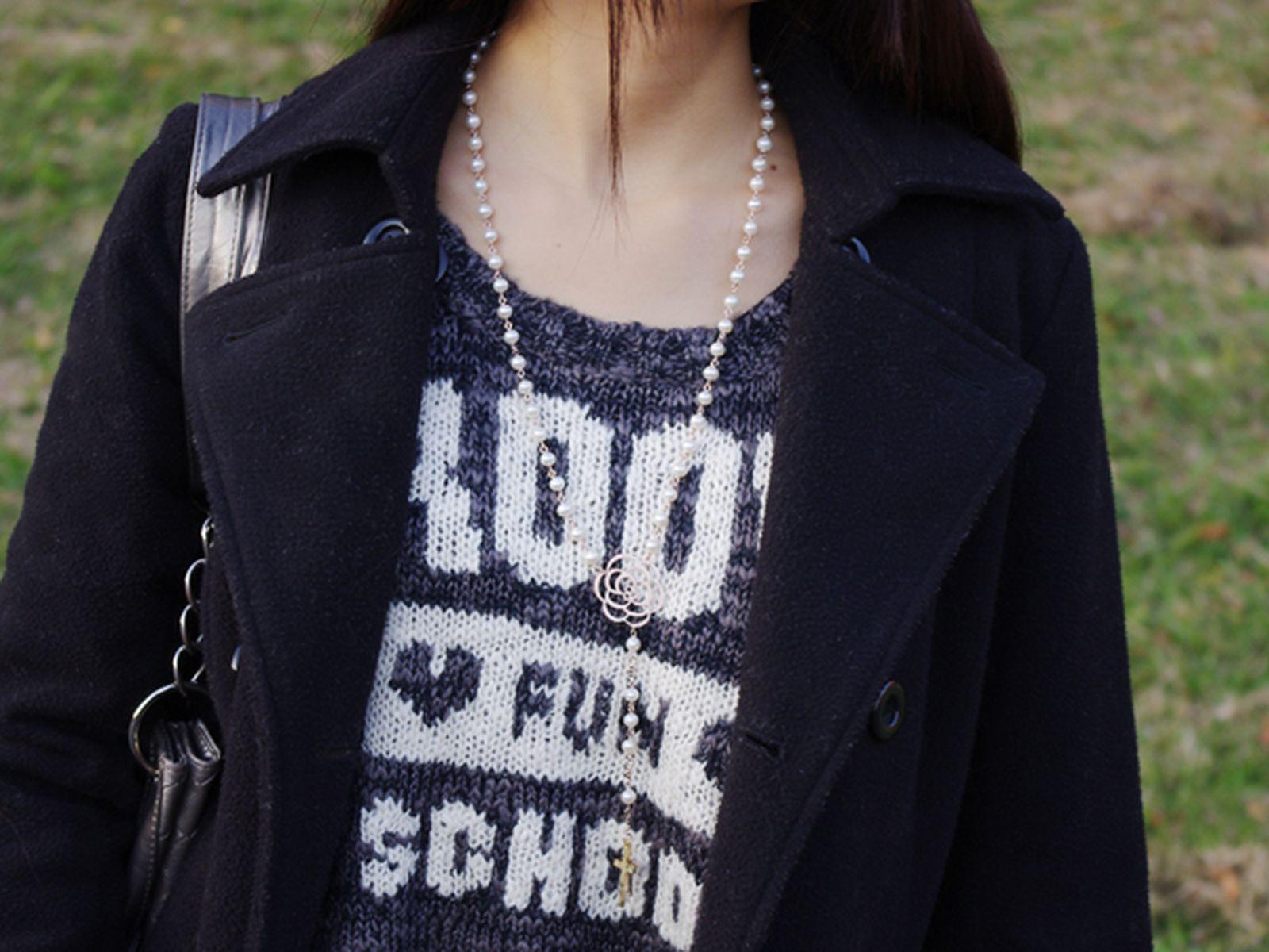 淡水真珠オリジナルデザインネックレス 約5.5-6.0mmの写真