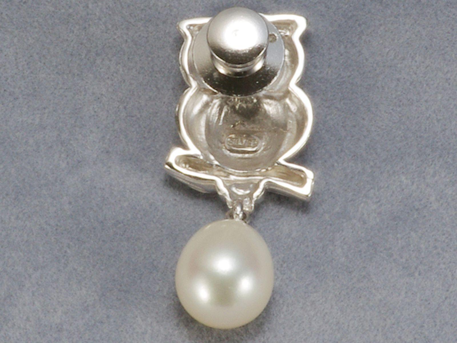 淡水真珠ブローチ 約9.4X11.0mmの写真