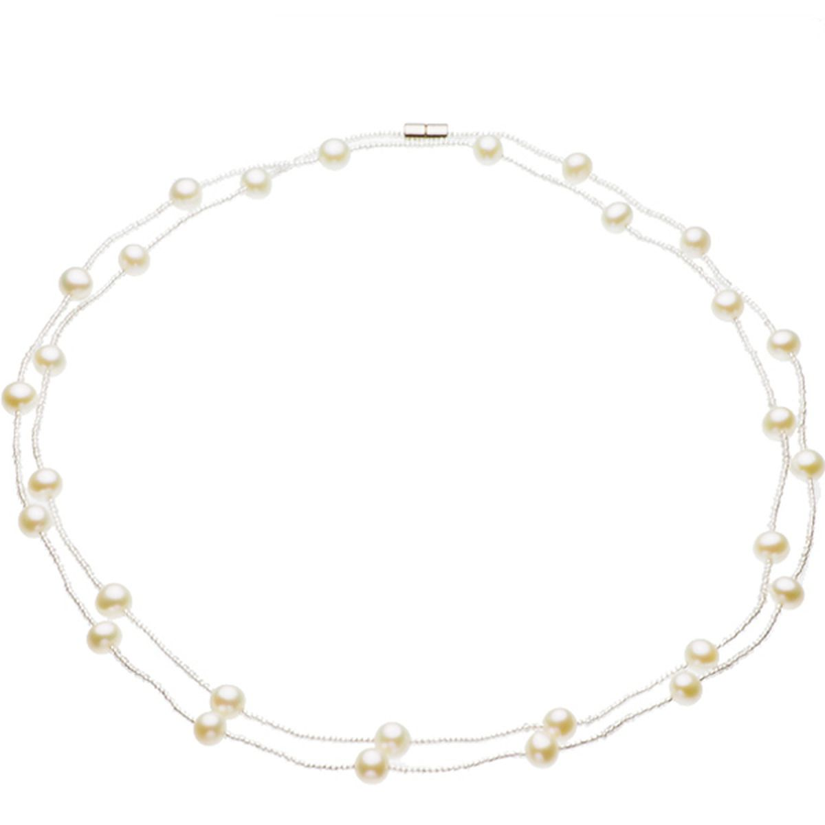 淡水 真珠 パールロングネックレス 約7.0-8.0mm 真珠 パール ギフト プレゼの写真