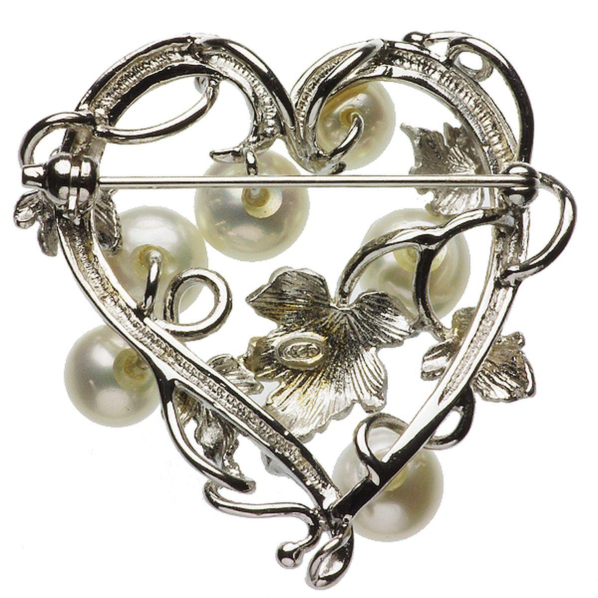 淡水真珠ブローチ 約6.5-7.5mmの写真