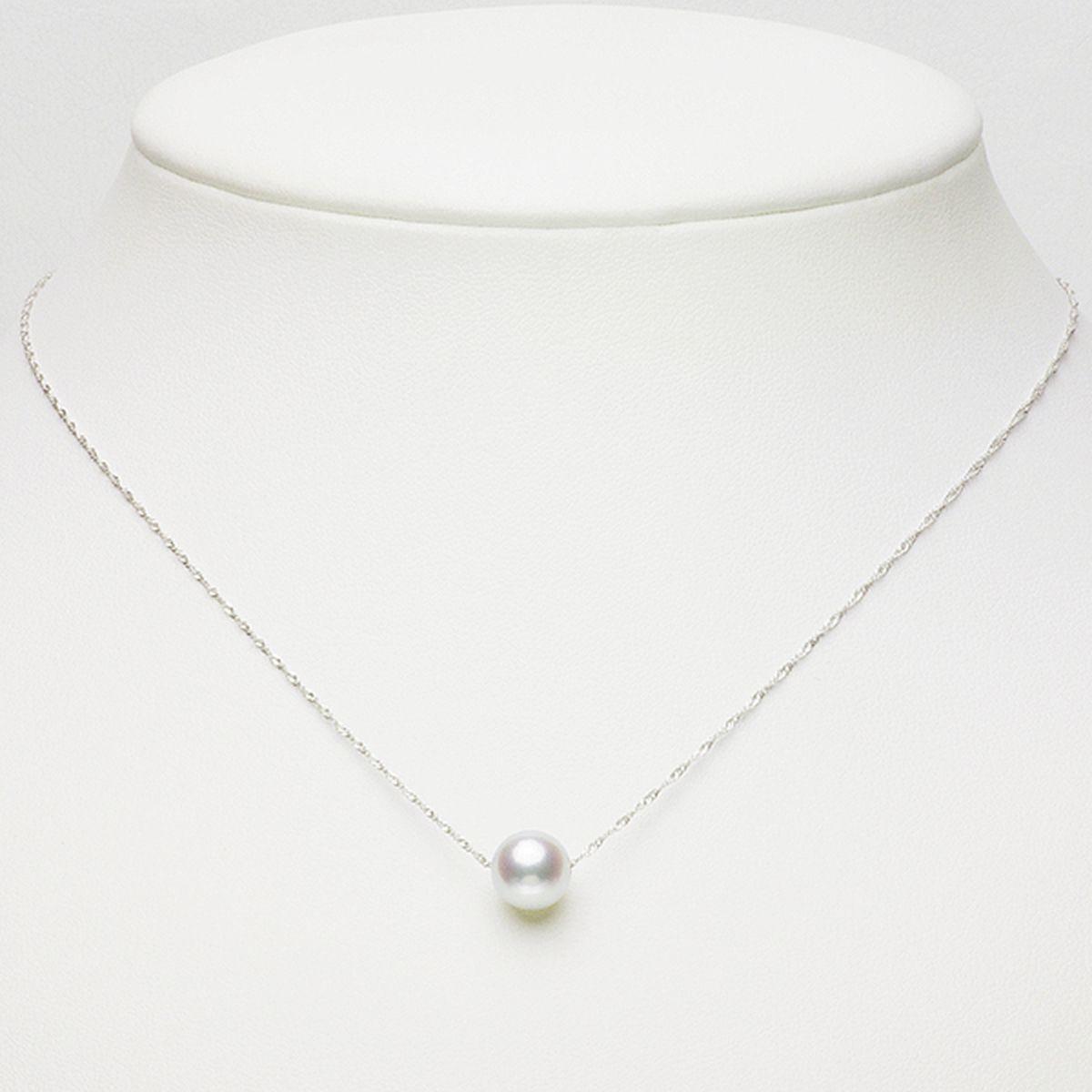 アコヤ 真珠 パール ペンダント 約8.0mm ホワイトゴールド K14WG パール ギフト プレゼント 6月誕生石真珠の写真