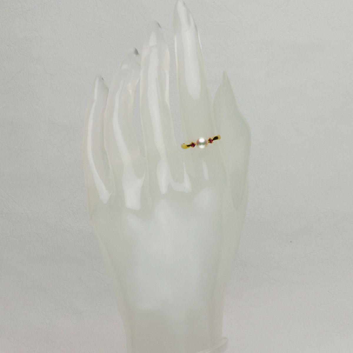 アコヤ真珠 パール リング 約5.8mm ゴールド K18 ラウンドの写真