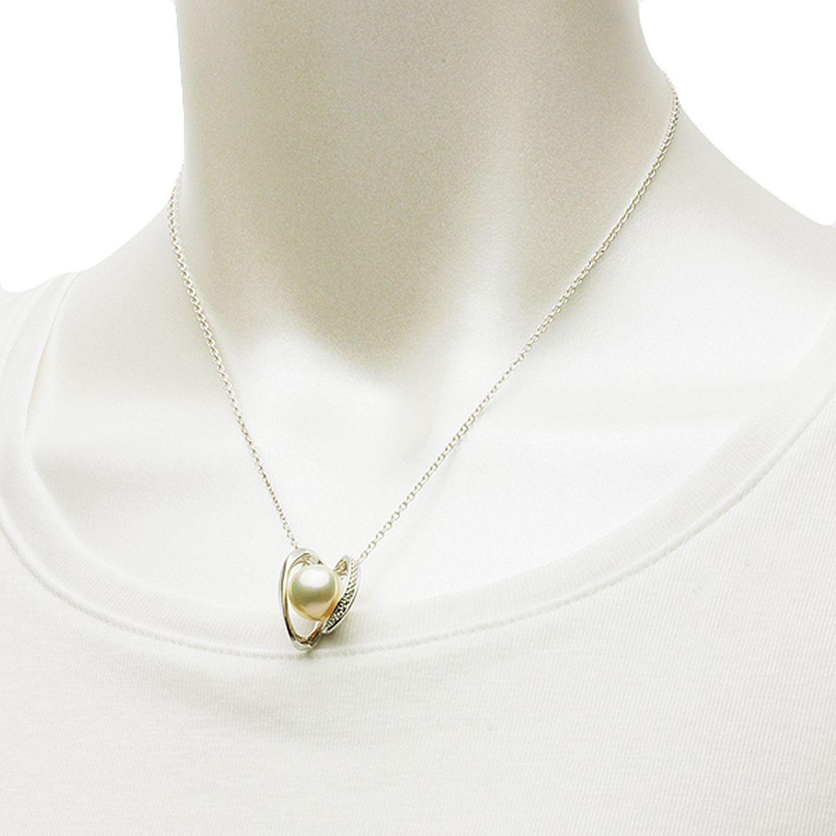 淡水真珠 パール ペンダント 約11.5mm シンチュウ 合金の写真