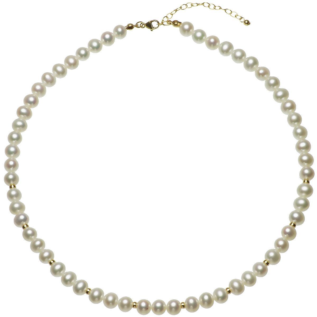 淡水 真珠 パール シンプル セミフォーマル ネックレス 6.5-7.0mm 14金 ゴールドフィールド K14GF ギフト プレゼントの写真