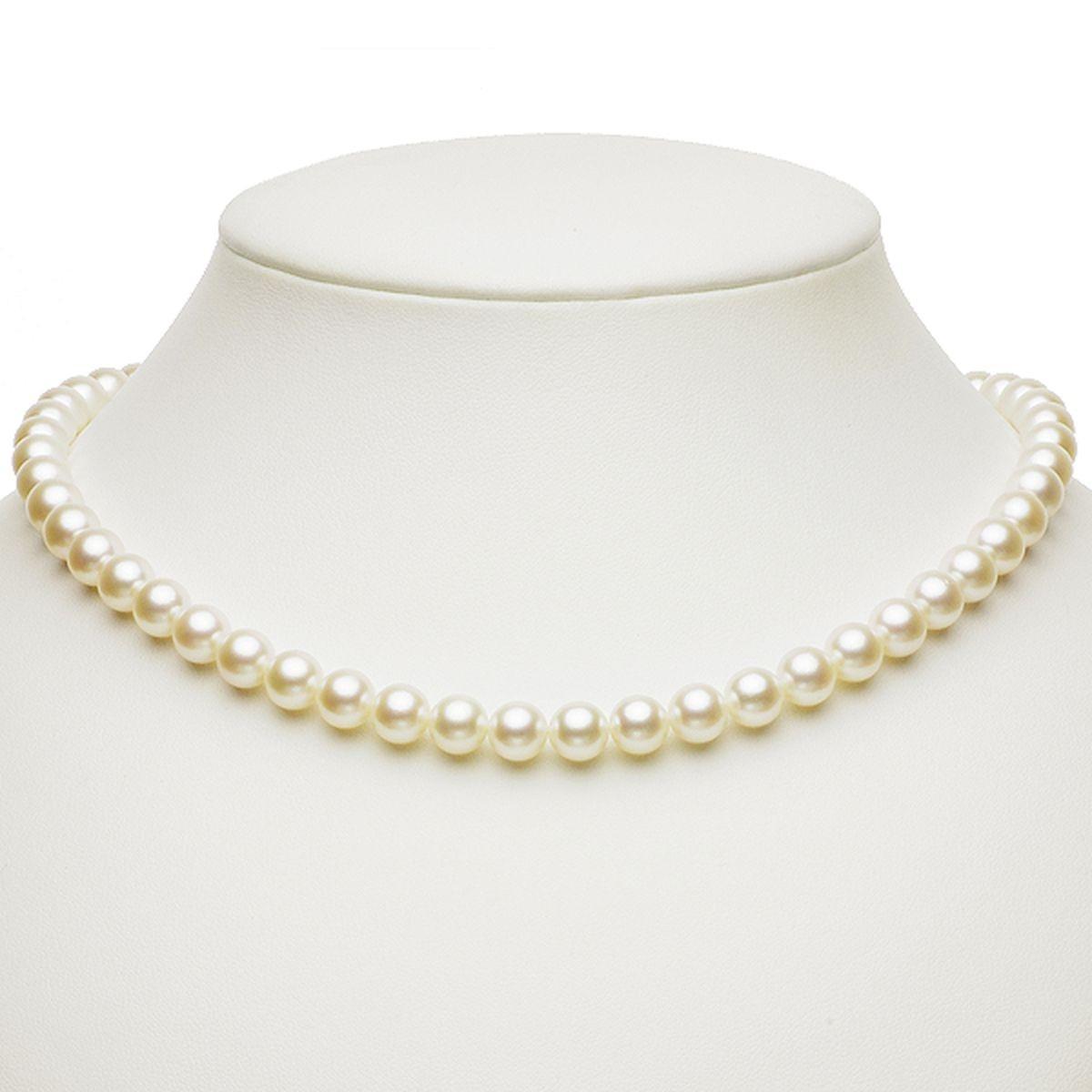 アコヤ 一番 人気 サイズ 真珠 パール フォーマル セット 約7.5-8.0mm シルバー SV 冠婚葬祭の写真