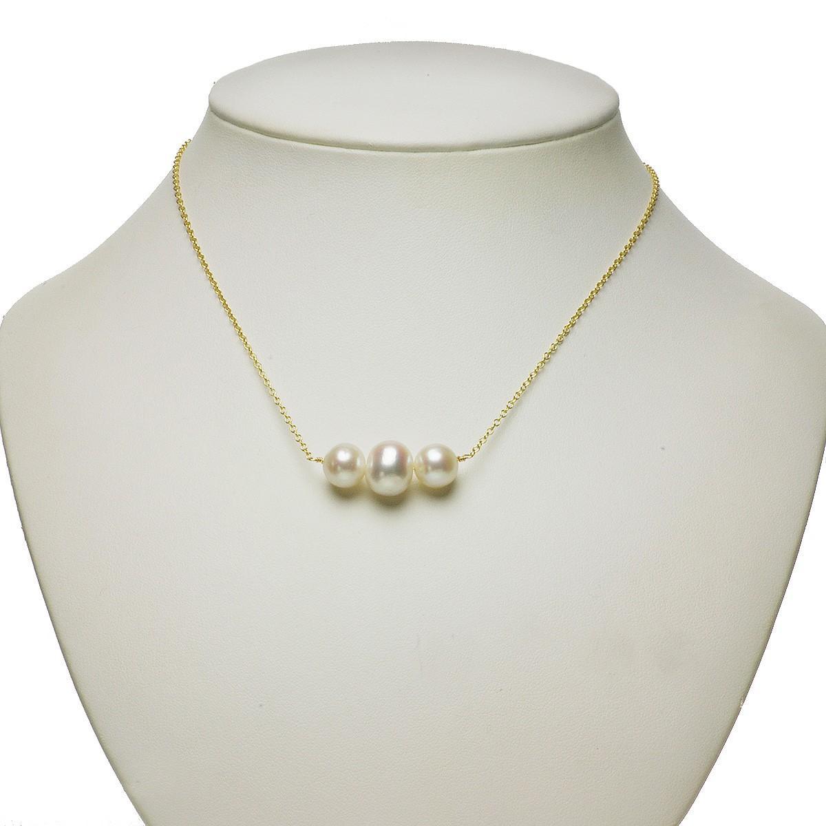 淡水 真珠 パール オリジナル ネックレス 9-11mm 14金 ゴールドフィールド K14GF ギフト プレゼントの写真