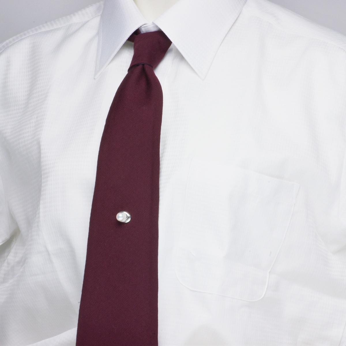 高級 淡水真珠 7.5mm パール タイタック ギフト プレゼントの写真