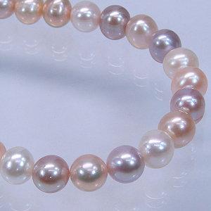 高級淡水真珠オリジナルデザインネックレス 約8.5-9.5mmの写真