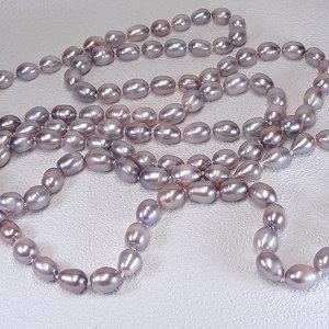 淡水真珠ロングネックレス 約8.5-10.5mmの写真