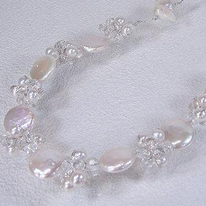 淡水真珠オリジナルデザインネックレス 約4.5mmの写真