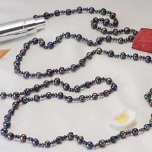 淡水真珠ロングネックレス 約3.5-4.0mmの写真