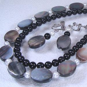 淡水真珠オリジナルデザインネックレス 約4.0-4.5mmの写真