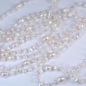 淡水真珠ロングネックレス 約3.5-8.0mmの写真