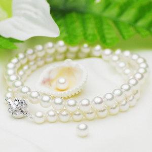 アコヤ 準花珠 真珠 フォーマル セット 約6.5-7.0mmの写真