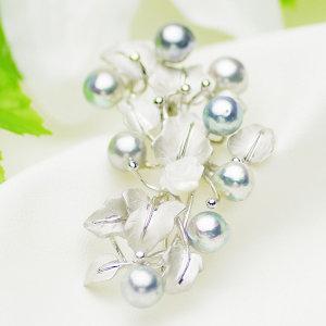 アコヤ真珠ブローチ 約7-8.0mmの写真