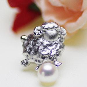 アコヤ真珠ブローチ 約6.5mmの写真