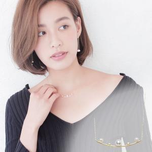 アコヤ 真珠 ラインパール ネックレス 約5.0-5.5mm 3.0-3.5mmの写真