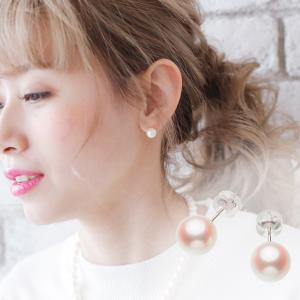 アコヤ真珠ピアス 約8.0mmの写真