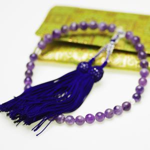 天然石 アメシスト 紫水晶 略式 念珠 数珠 約8.0mm すべての宗派の写真