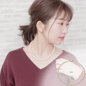 アコヤ 花珠真珠 パール フォーマル ネックレスセット 約7.5-8.0mmの写真